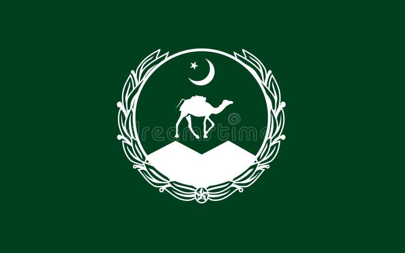 Drapeau de Balochistan, Pakistan illustration de vecteur