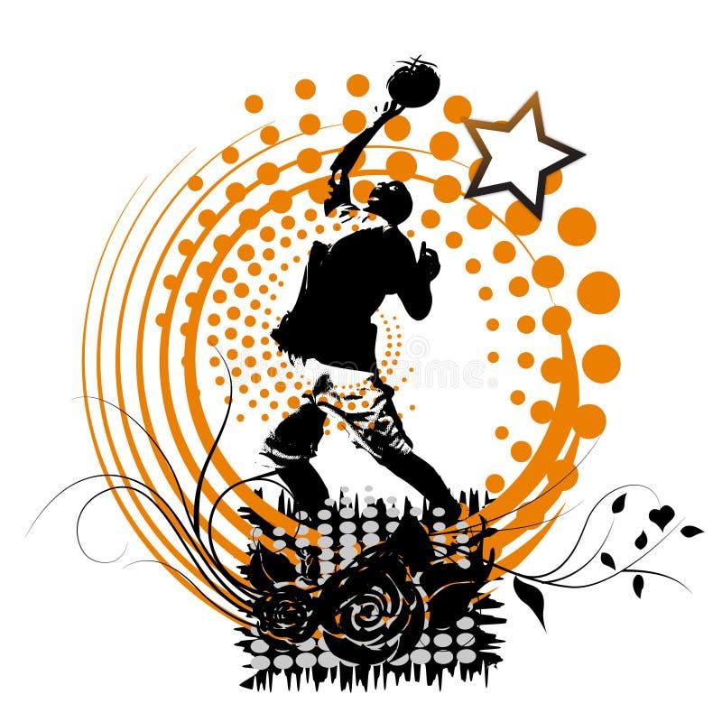 Drapeau de basket-ball illustration libre de droits