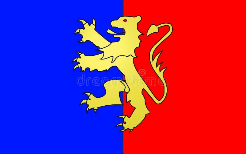 Drapeau de Bernay, France illustration de vecteur