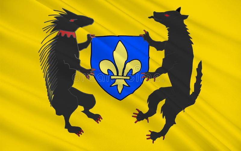 Drapeau de Blois, France illustration libre de droits