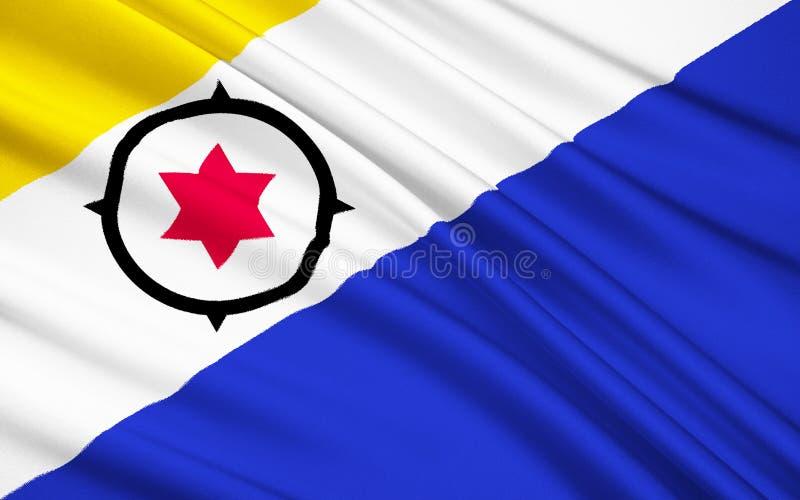 Drapeau de Bonaire, St Eustatius et Saba Caribbean Netherlands illustration libre de droits
