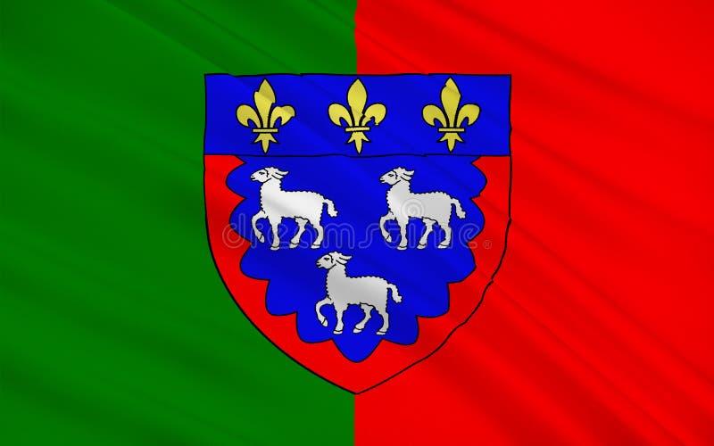Drapeau de Bourges, France image stock