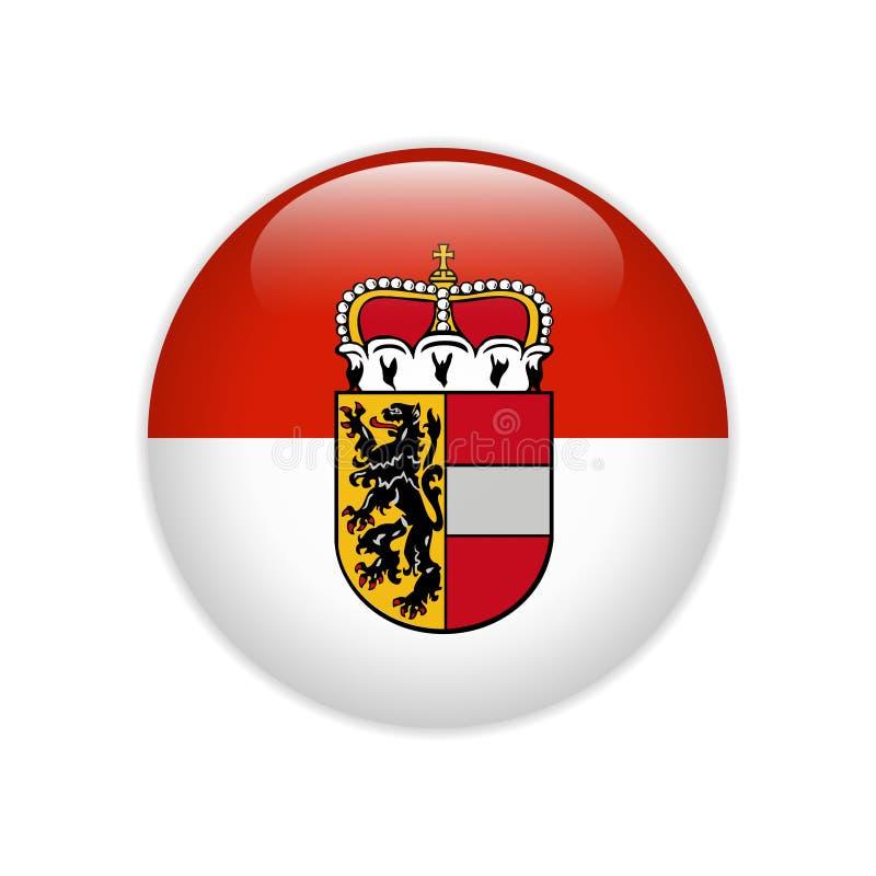 Drapeau de bouton d'état de Salzbourg illustration stock