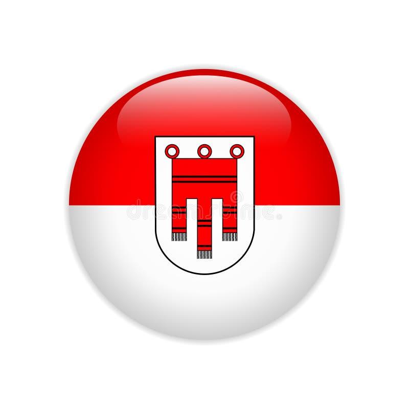 Drapeau de bouton d'état de Vorarlberg illustration de vecteur