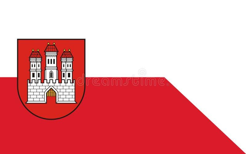 Drapeau de Bratislava, Slovaquie images stock
