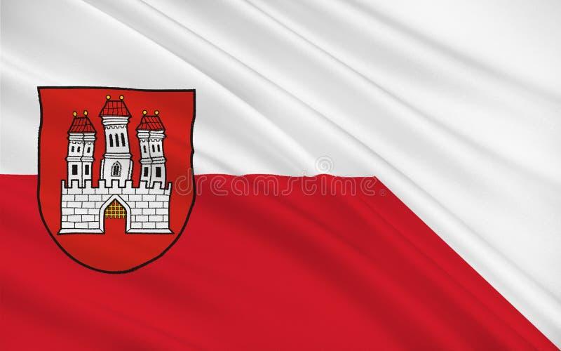 Drapeau de Bratislava, Slovaquie photo libre de droits