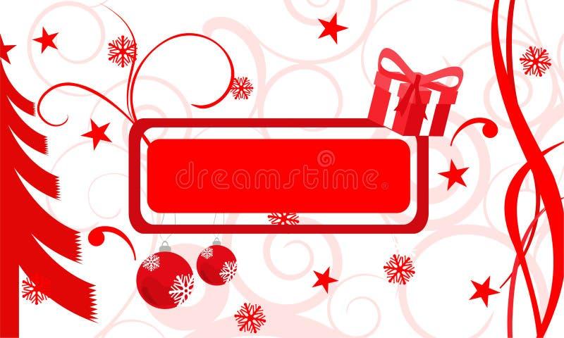 Drapeau de cadeau illustration libre de droits