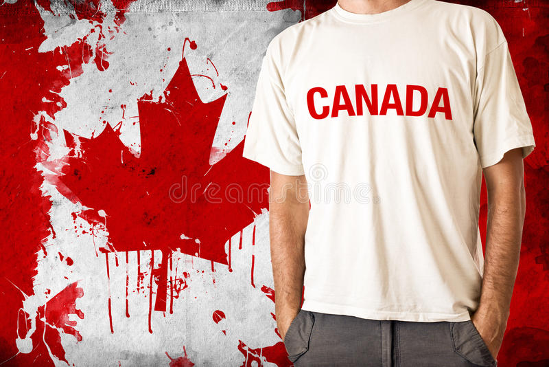 Drapeau de Canada image libre de droits