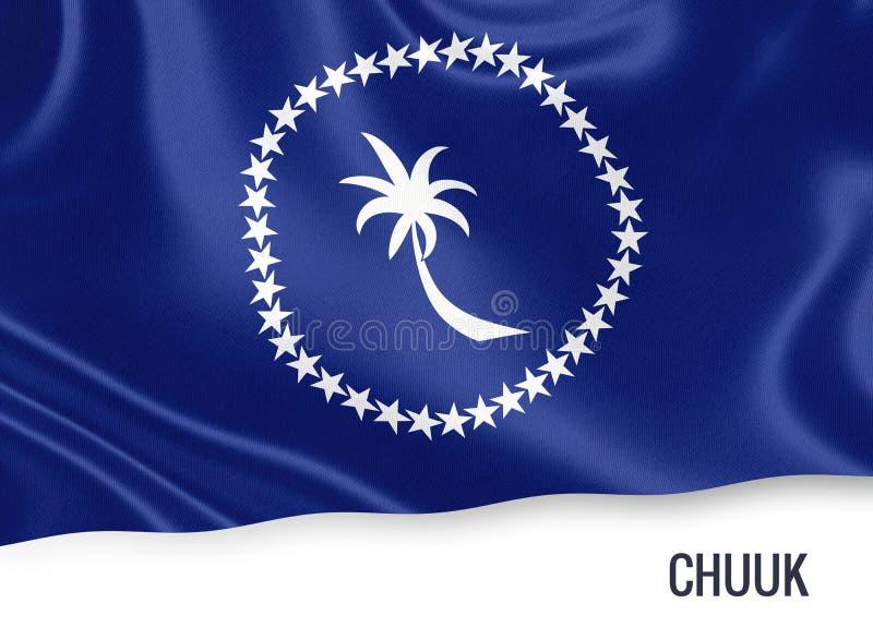 Drapeau de Chuuk d'état des Etats fédérés de Micronésie illustration de vecteur