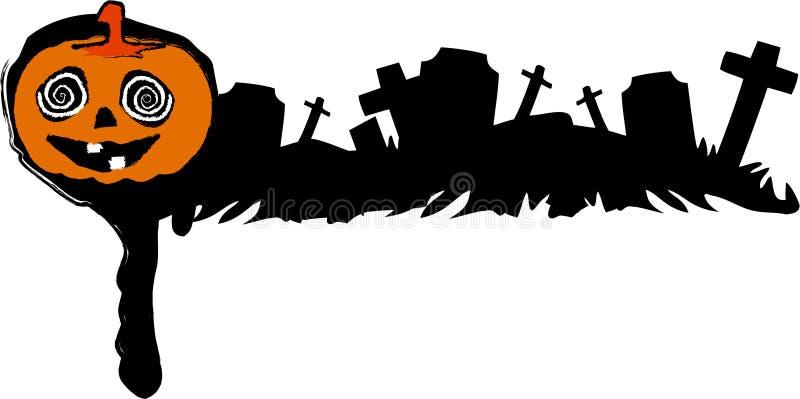 Drapeau de cimetière de Veille de la toussaint illustration libre de droits