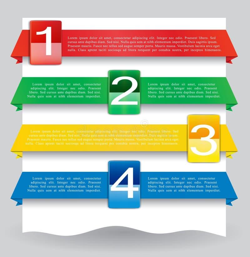 Drapeau de conception de Web pour le site Web avec des numéros illustration stock