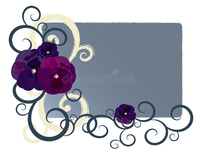 Drapeau de conception florale illustration de vecteur