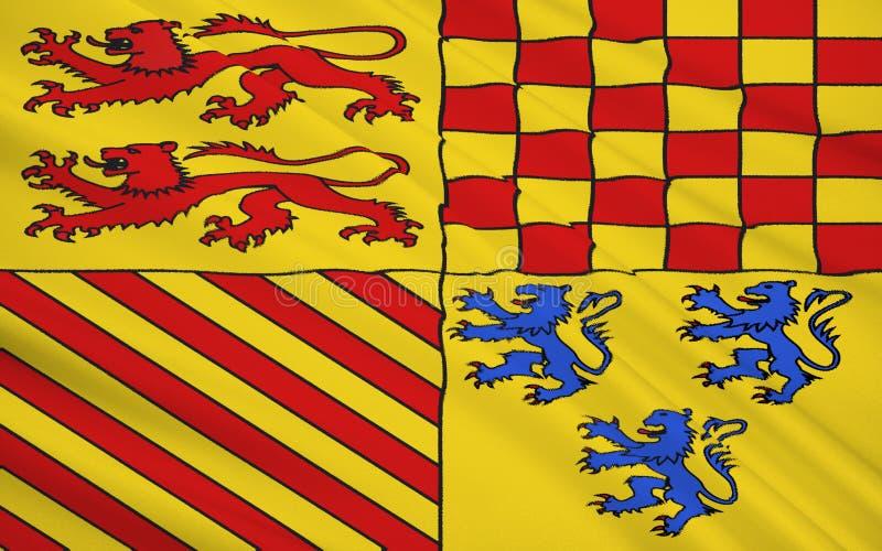 Drapeau de Correze images stock