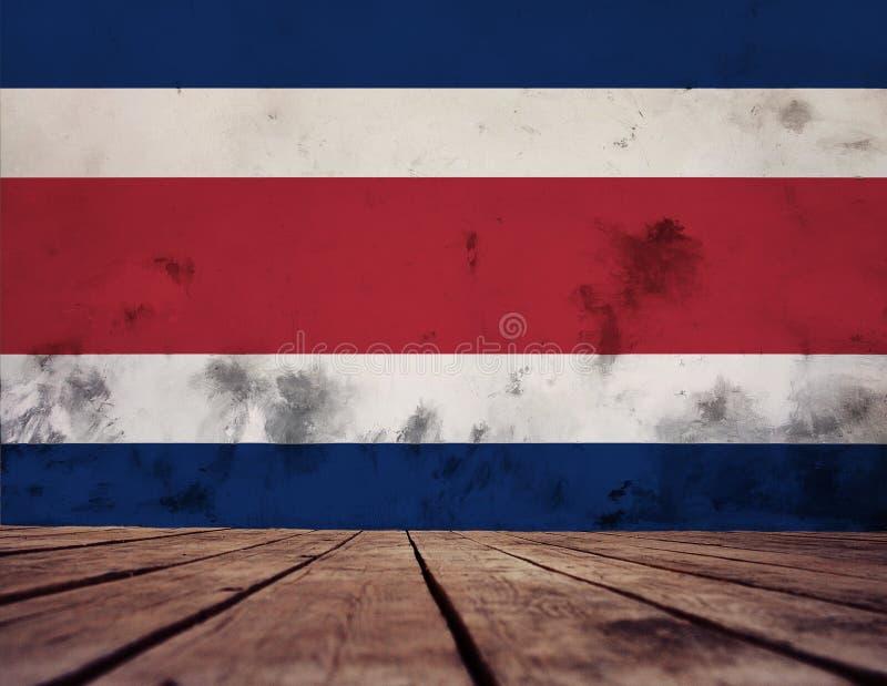 Drapeau de Costa Rica illustration libre de droits