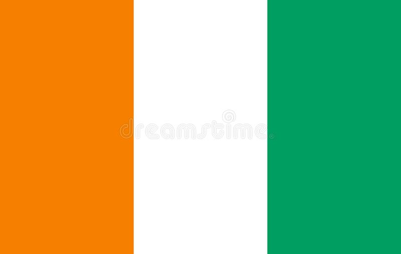 Drapeau de drapeau de COTE D IVOIRE illustration libre de droits