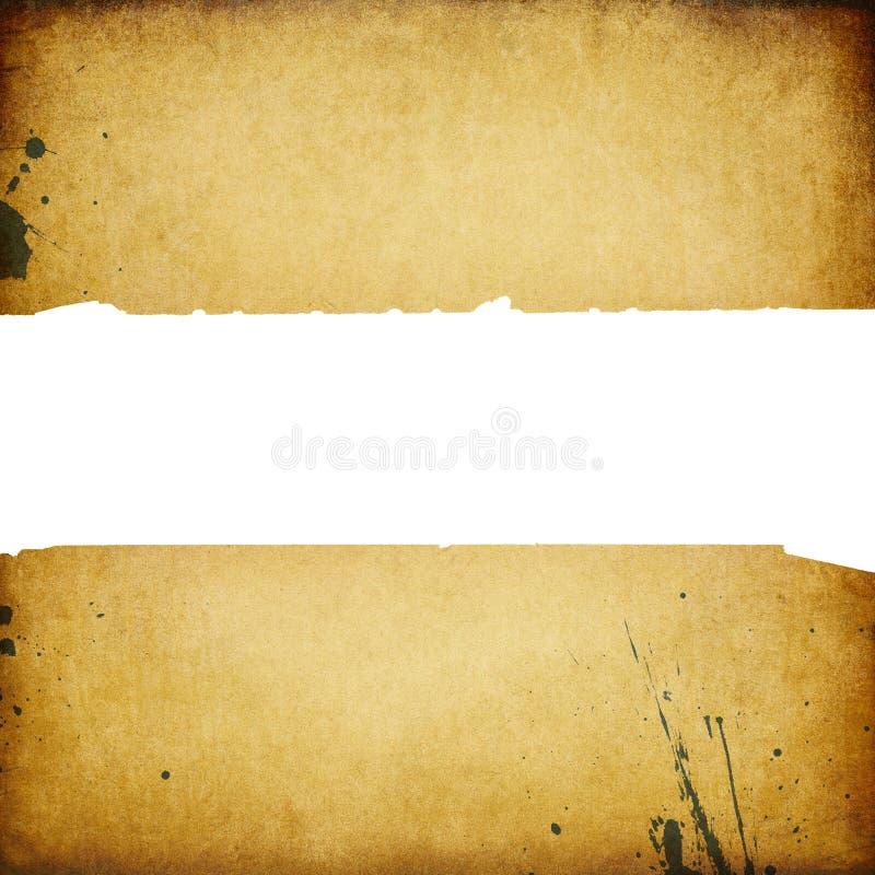 Drapeau de cru avec les bords déchirés. illustration stock