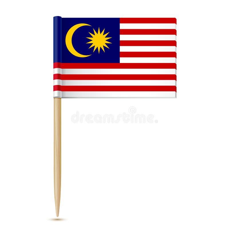 Drapeau de cure-dents de la Malaisie illustration stock