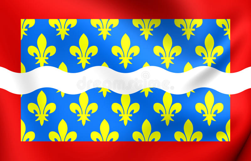 Drapeau de département de Cher, France illustration libre de droits