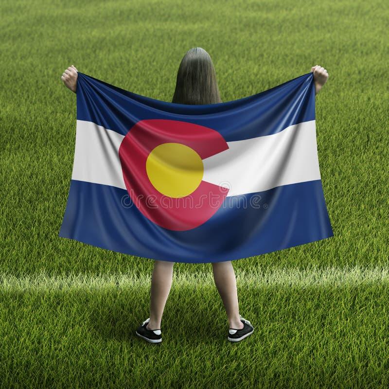 Drapeau de femmes et de Colorado illustration stock