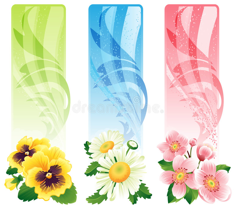 Drapeau de fleur illustration stock