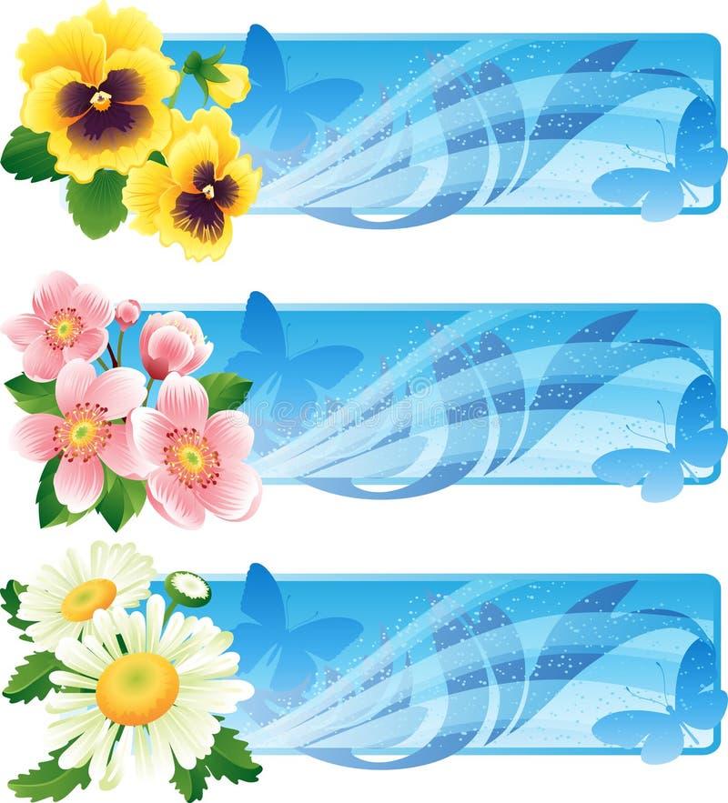 Drapeau de fleur illustration libre de droits