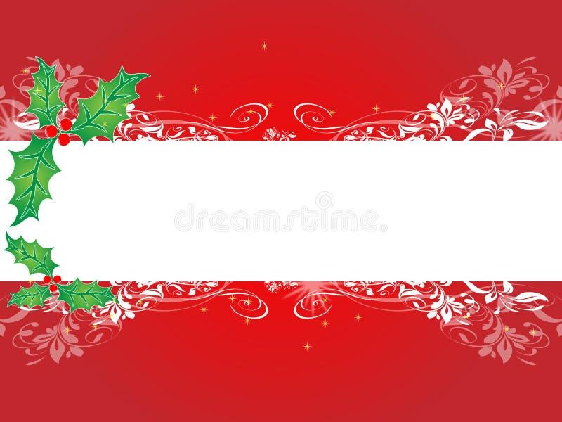 Drapeau de fond de Noël illustration de vecteur