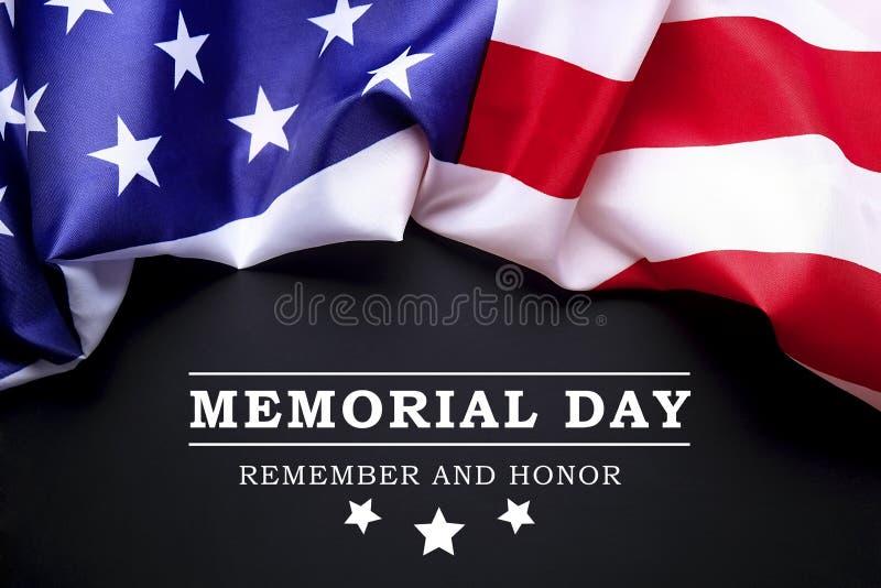 Drapeau de fond des Etats-Unis d'Amérique pour la célébration fédérale nationale de vacances et le jour de deuil de souvenir Symb image stock