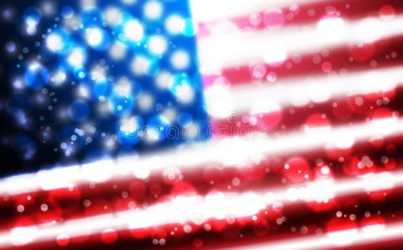 Drapeau de fond des Etats-Unis pour l'indépendance, vétérans, mémorial, Martin Luther King, jour de présidents et d'autres événem illustration de vecteur