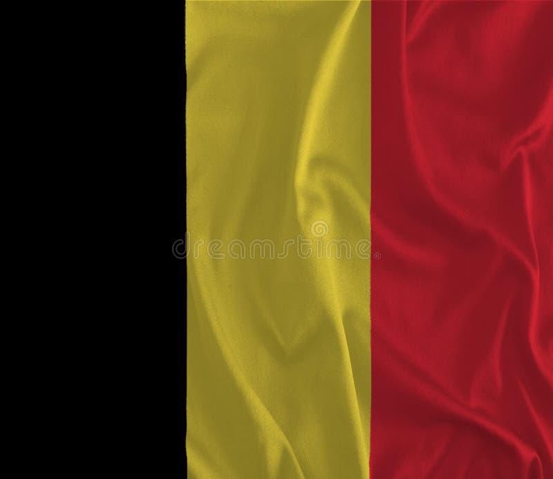 Drapeau de fond de la Belgique illustration de vecteur