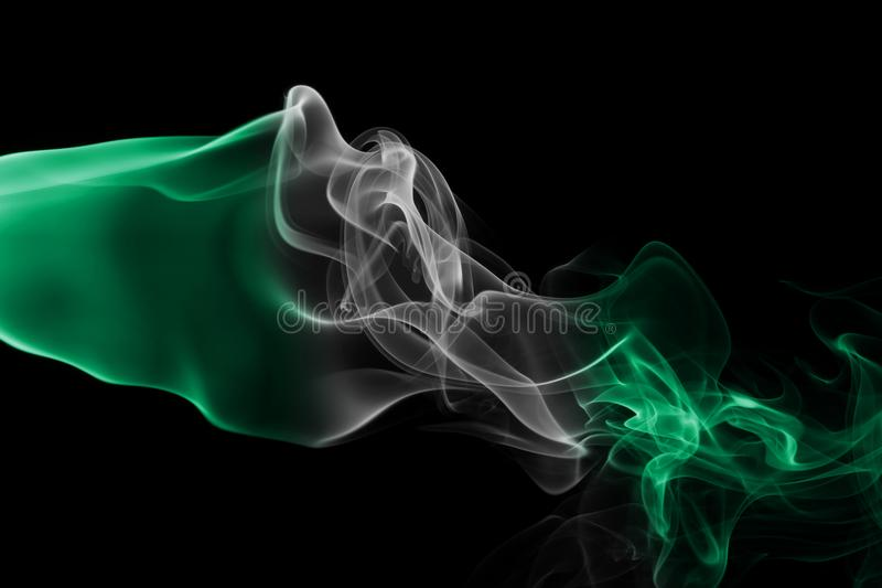 Drapeau de fumée du Nigéria photos stock