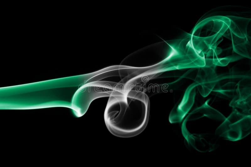 Drapeau de fumée du Nigéria image stock
