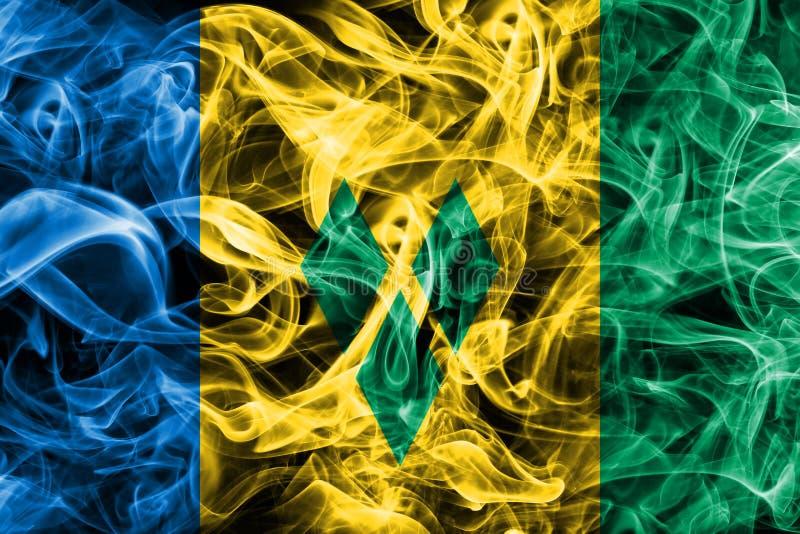 Drapeau de fumée de Saint-Vincent-et-les-Grenadines illustration stock