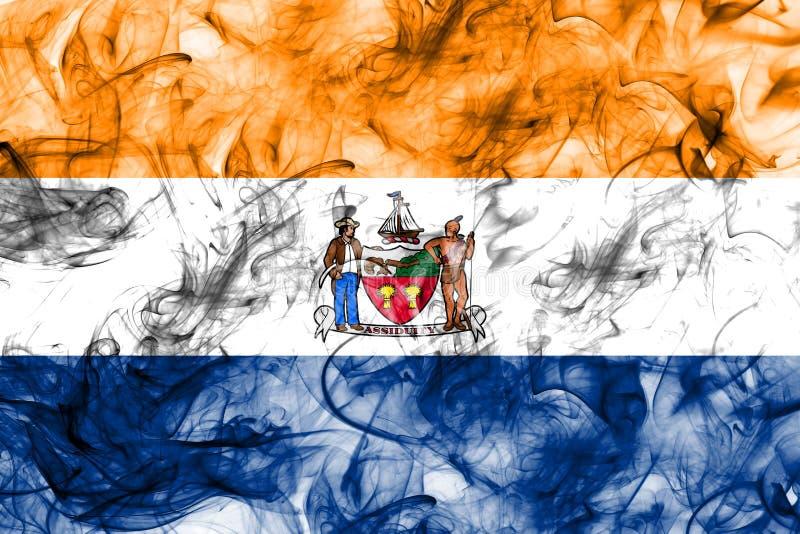 Drapeau de fumée de ville d'Albany, l'état de New-York, Etats-Unis d'Amérique illustration libre de droits