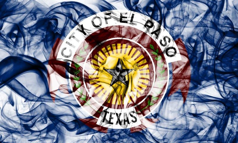 Drapeau de fumée de ville d'El Paso, Texas State, Etats-Unis d'Amérique image stock