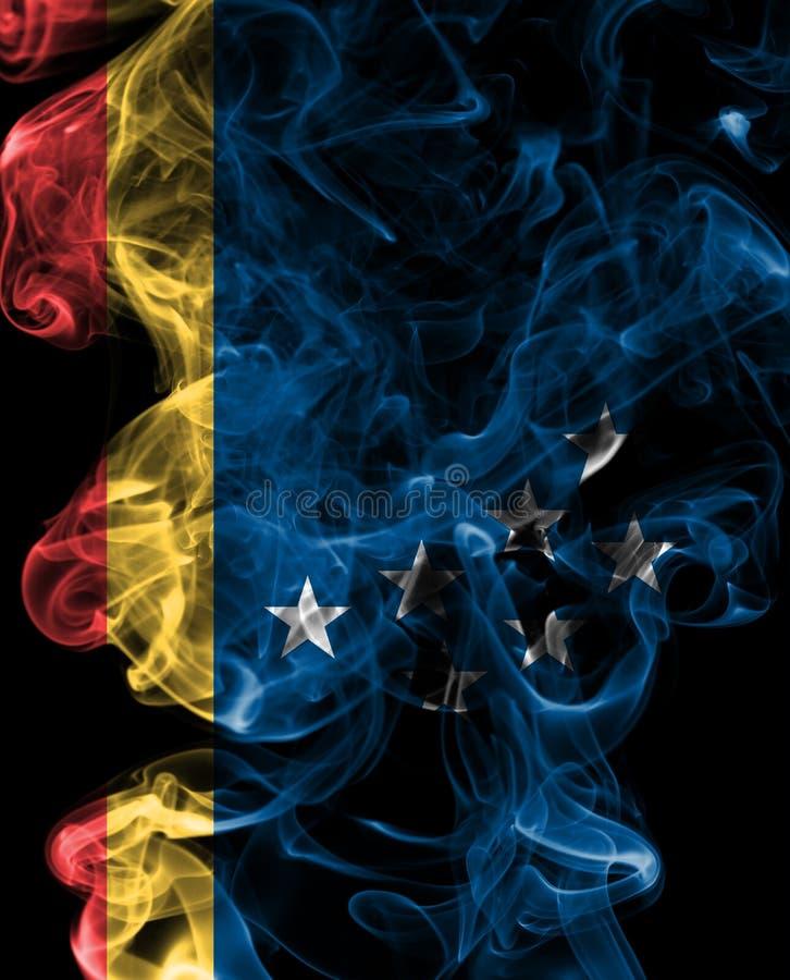 Drapeau de fumée de ville de Durham, Carolina State du nord, Etats-Unis d'A photographie stock libre de droits