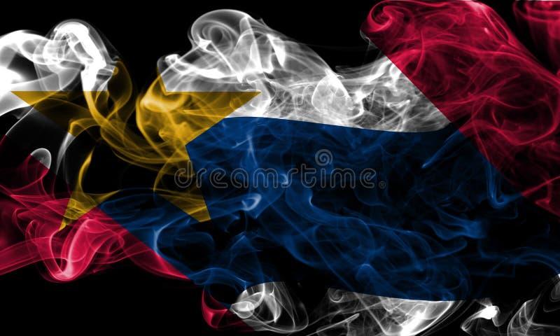 Drapeau de fumée de ville de Lafayette, Indiana State, Etats-Unis d'Ameri image libre de droits