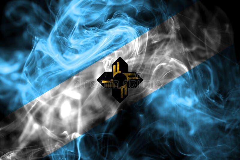 Drapeau de fumée de ville de Madison, état du Wisconsin, Etats-Unis d'Ameri images libres de droits