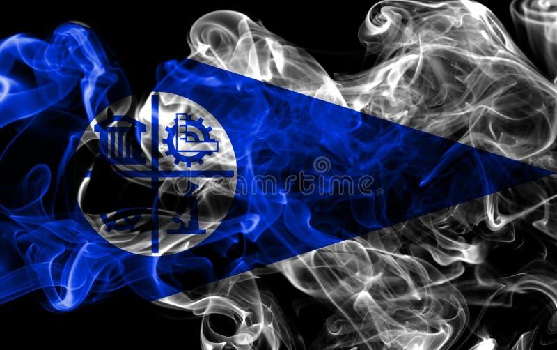 Drapeau de fumée de ville de Minneapolis, état du Minnesota, Etats-Unis d'A image libre de droits