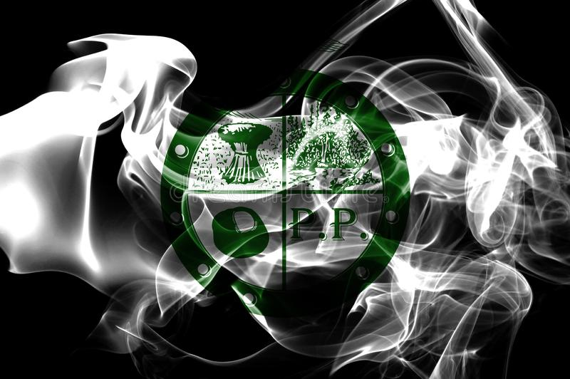 Drapeau de fumée de ville de Pee Pee Township, état de l'Ohio, Etats-Unis d'A images stock