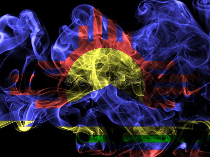 Drapeau de fumée de ville de Roswell, état du Nouveau Mexique, Etats-Unis d'Amer photos libres de droits