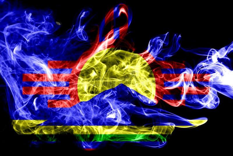 Drapeau de fumée de ville de Roswell, état du Nouveau Mexique, Etats-Unis d'Amer image stock