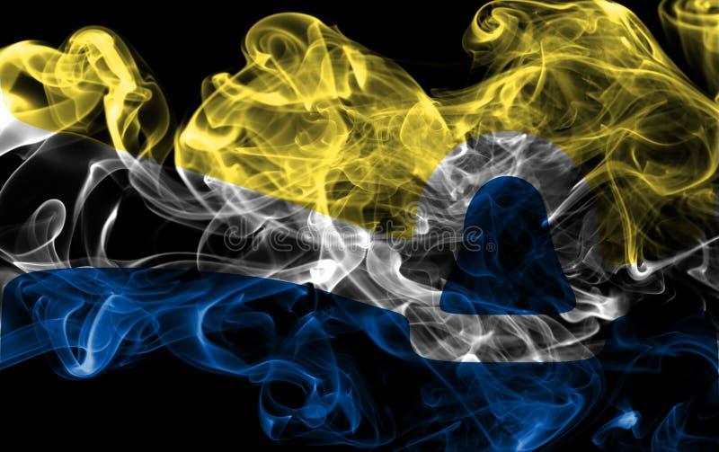 Drapeau de fumée de ville de San Luis Obispo, état de la Californie, Etats-Unis image libre de droits