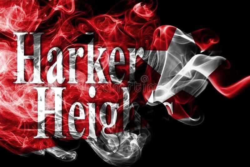Drapeau de fumée de ville de tailles de Harker, Texas State, Etats-Unis d'Amérique image libre de droits