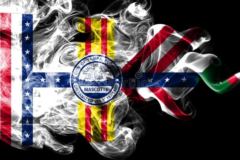 Drapeau de fumée de ville de Tampa, état de la Floride, Etats-Unis d'Amérique illustration de vecteur