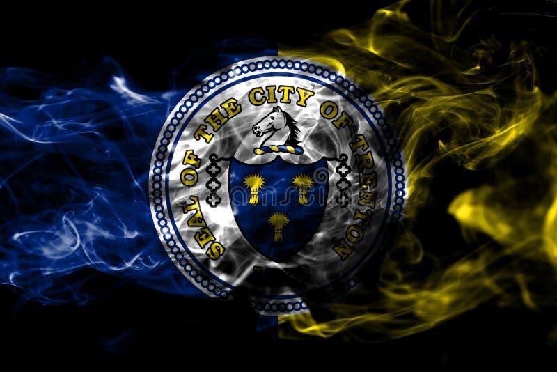 Drapeau de fumée de ville de Trenton, état de New Jersey, Etats-Unis d'Amer illustration stock