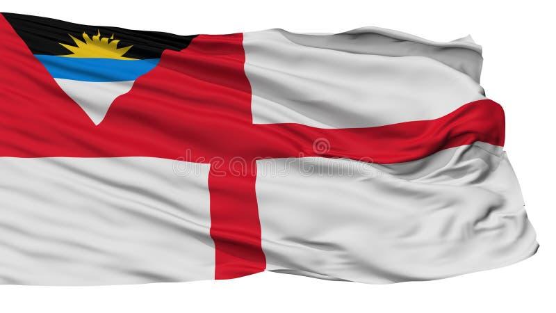 Drapeau de garde-côte de drapeau de l'Antigua-et-Barbuda, d'isolement sur le blanc illustration stock