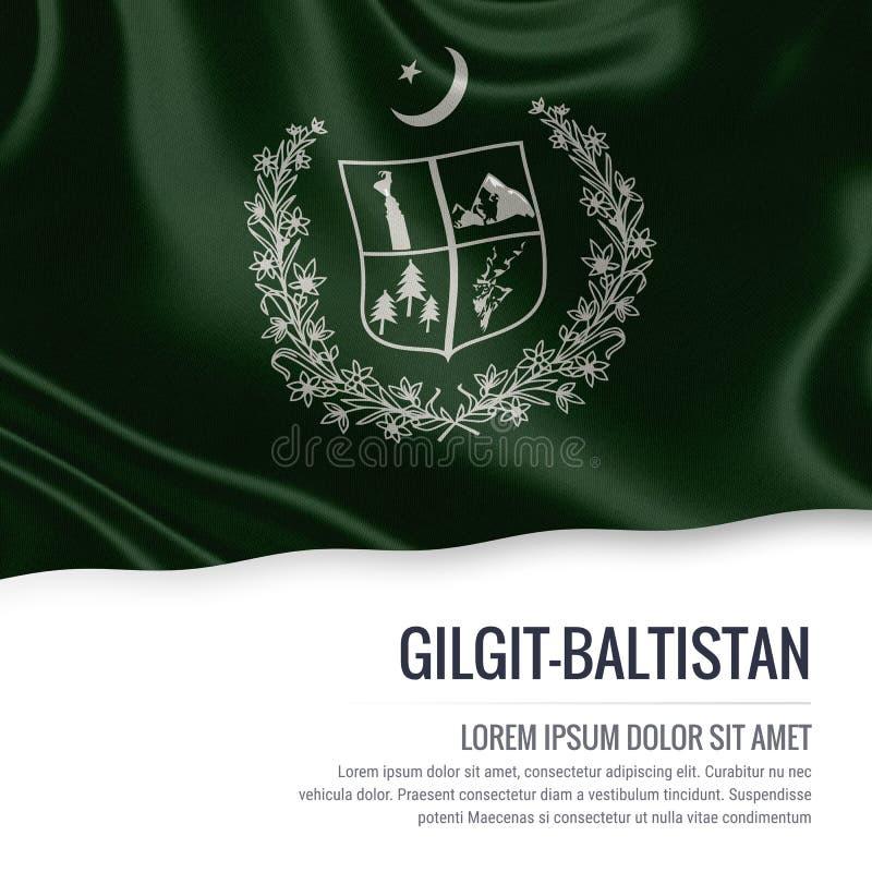 Drapeau de Gilgit-Baltistan d'état du Pakistan illustration de vecteur
