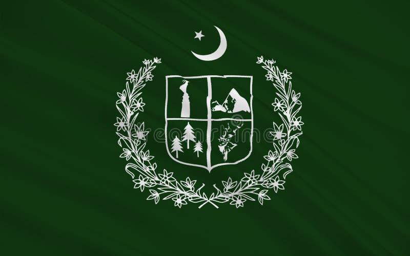 Drapeau de Gilgit-Baltistan, Pakistan illustration de vecteur