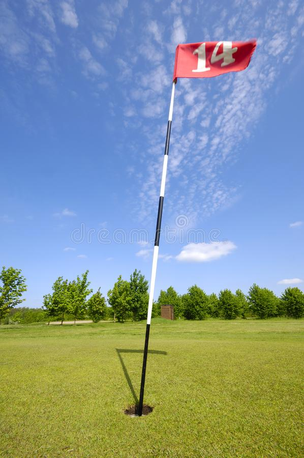 Drapeau de golf photo stock