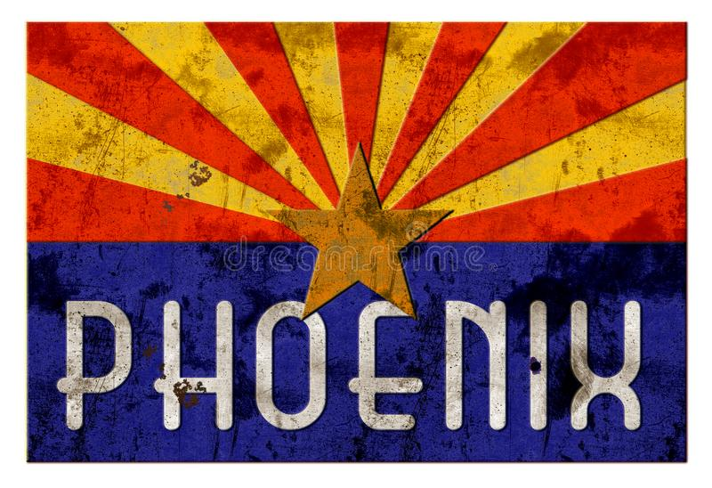 Drapeau de Grung Arizona de plaque de rue de Phoenix illustration libre de droits